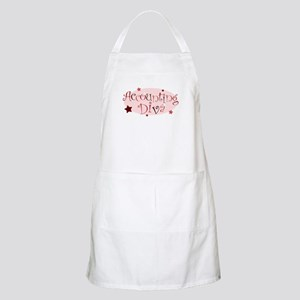 """Accounting Diva"" [red] BBQ Apron"